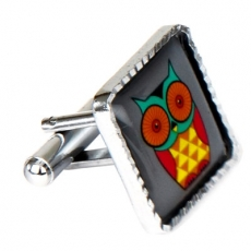 cufflinks_square_owl