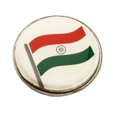 Indian-Flag-Round